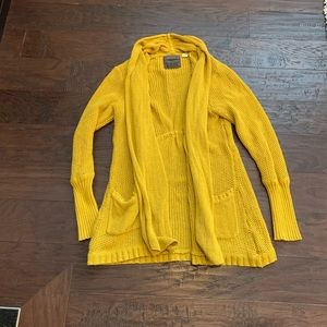 Anthropologie Brand Mustard Knit Cardigan